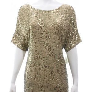 VINCE SEQUIN T SHIRT DRESS NEW SIZE SMALL